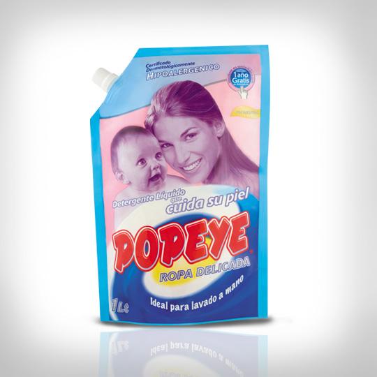 Detergente hipoalergénico líquido Popeye para ropa delicada