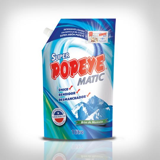 Detergente Liquido Super Popeye Matic