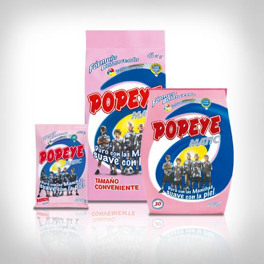 Detergente Popeye Matic en Polvo