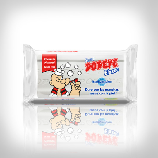 Jabón Popeye Super Blanco