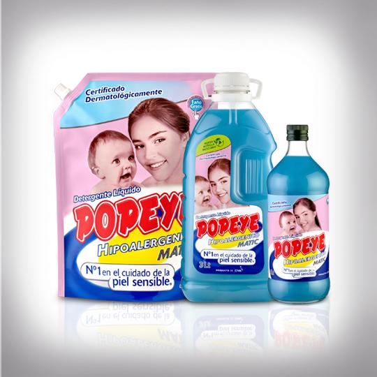 Detergente Popeye Matic Hipoalergénico Bebé