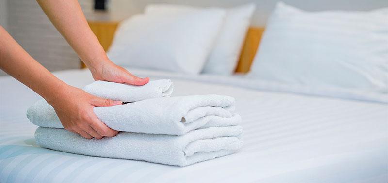 Las sábanas y toallas merecen cuidado especial