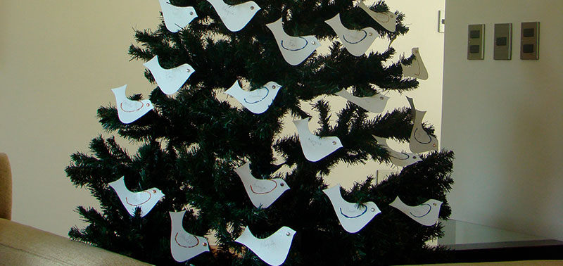 Este árbol de buenos deseos decorará la casa
